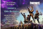 Personalised Fortnite Invitations